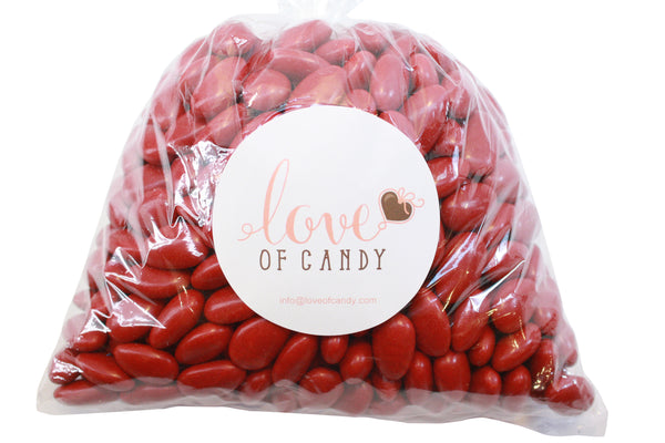 Bulk Candy - Red Jordan Almonds