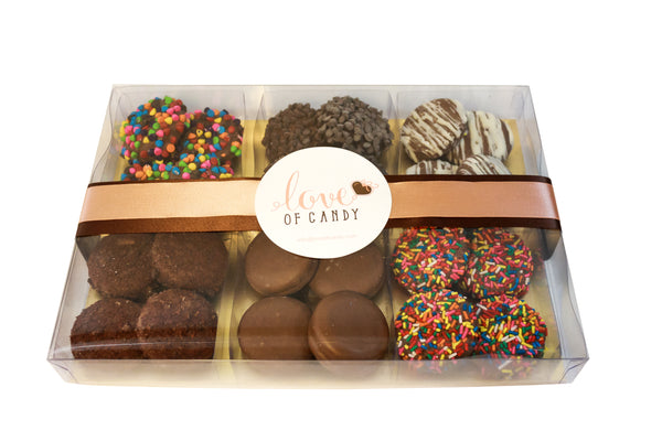 Gourmet Chocolate Covered Cookie Gift Box, Milk Chocolate