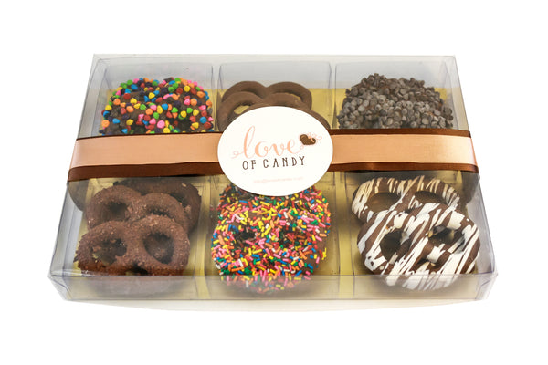 Gourmet Chocolate Covered Pretzel Gift Box, Milk Chocolate