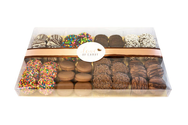 Gourmet Chocolate Covered Cookie Gift Box, Assorted