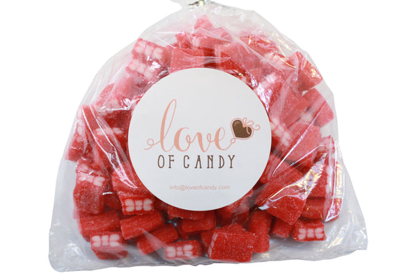 Bulk Candy - Sour Cherry Licorice Cubes