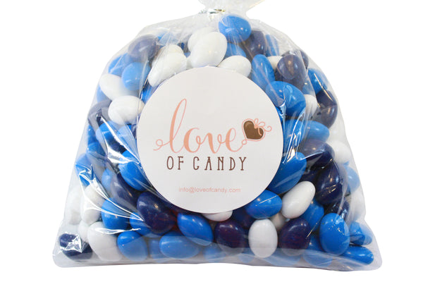 Bulk Candy - Royal, Navy & White Chocolate Almonds