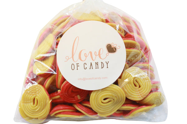 Bulk Candy - Red-Yellow Spiral Licorice