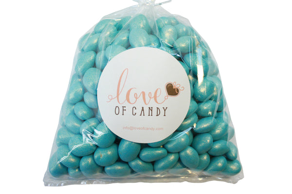 Bulk Candy - Light Blue Chocolate Almonds