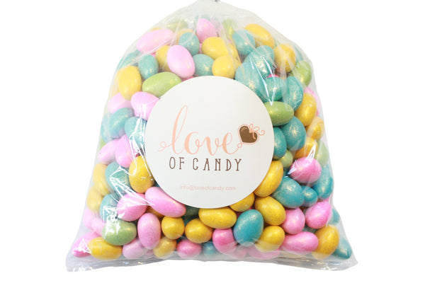 Bulk Candy - Assorted Pastel Jewel Chocolate Almonds