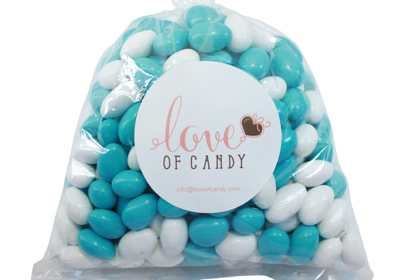 Bulk Candy - Light Blue & White Chocolate Almonds