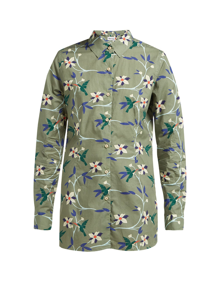 Georgie Cubist Tropical Cotton-Poplin Shirt - Thorsun