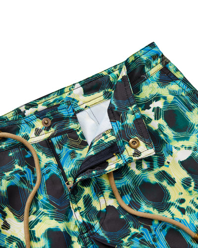 Athena Tortoise Swim Shorts in Green