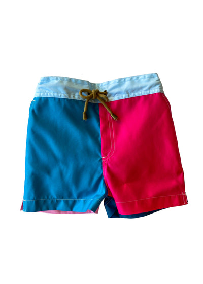 Zeus color block printed swim shorts