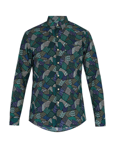 GREEN MULTI TILE - LONG SLEEVE - Thorsun