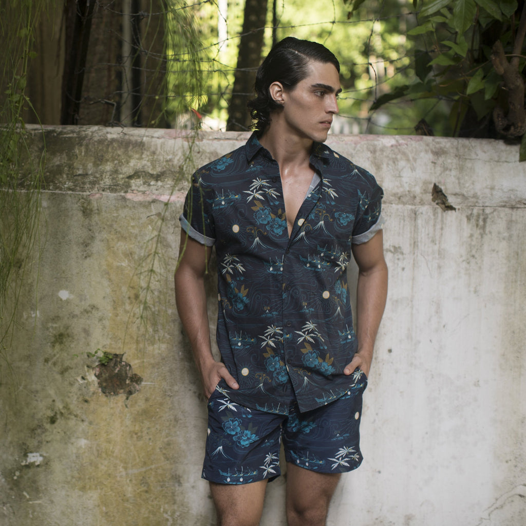 Polynesian | Short Sleeve | Navy - Thorsun