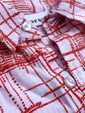 Modern Plaid - Short Sleeve - Red & White - Thorsun