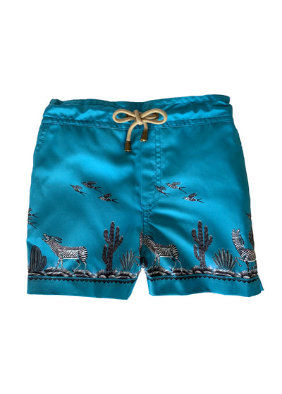 Zeus Coyote printed swim shorts - Blue - Thorsun