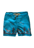 Zeus - Coyote printed swim shorts - Blue