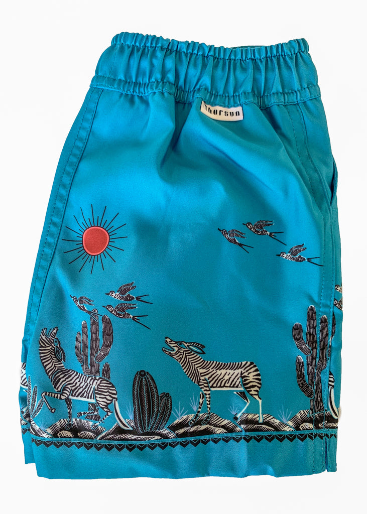 Zeus - Coyote printed swim shorts - Blue - Thorsun