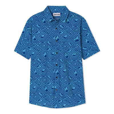 Maze | Short Sleeve | Blue - Thorsun