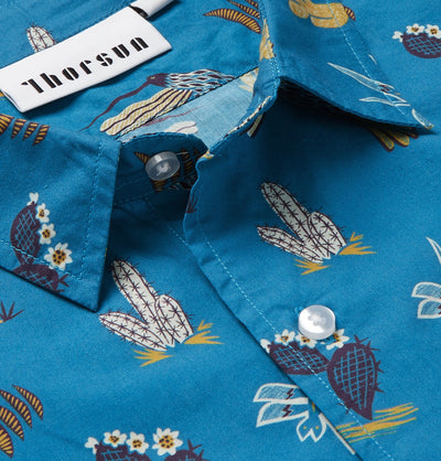 Mexican Hawaiian - Short Sleeve - Blue
