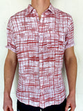 Modern Plaid - Short Sleeve - Red & White