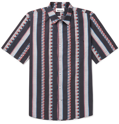 Multi Stripe - Short Sleeve - Black - Thorsun