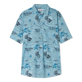 Polynesian - Short Sleeve - Light Blue