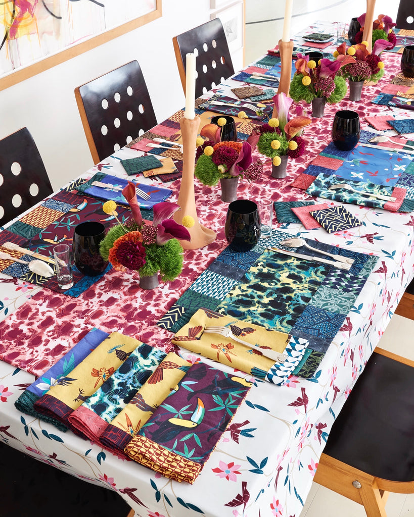 Placemats : Cubist Tropical in Blue - Thorsun