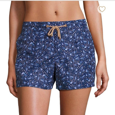 Athena Birds Swim Shorts in Blue