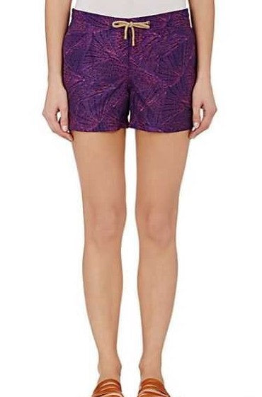 Athena Fans Swim Shorts in Purple