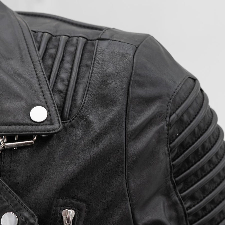 Brooklyn - Men's Fashion Leather Jacket (Black)