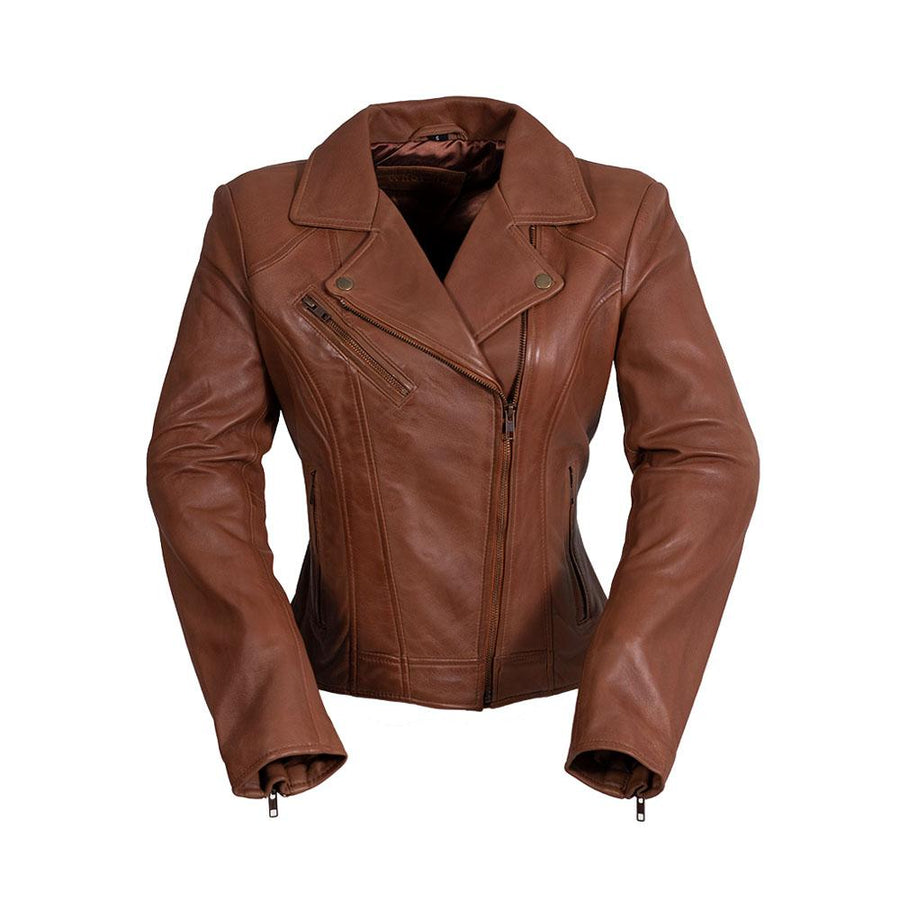 Betsy - Women's Fashion Leather Jacket (Whiskey)