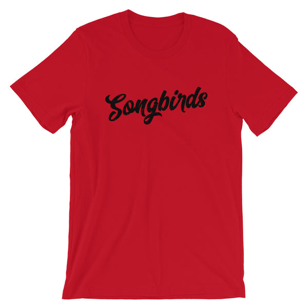 Songbirds Script (Black) Short-Sleeve Unisex T-Shirt