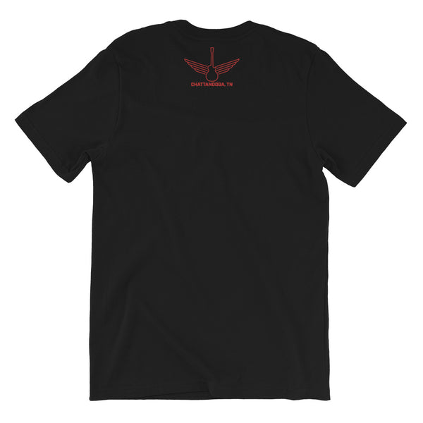 Songbirds Script (Red) Short-Sleeve Unisex T-Shirt