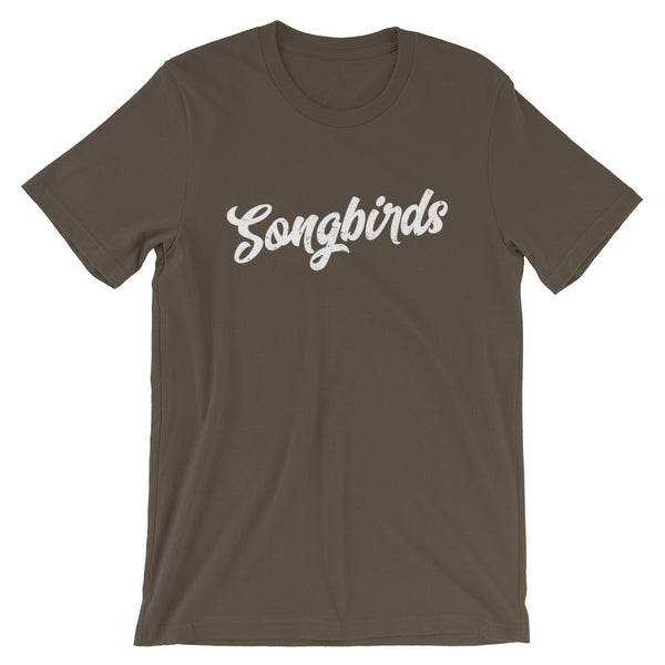Songbirds Script (White) Short-Sleeve Unisex T-Shirt