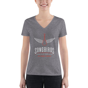 Women's Logo Deep V-neck Tee