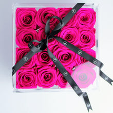 """Sixteen Preserved Box"" 16 Roses that Last a Year! - Square Box with Drawer for Jewelry or Makeup"