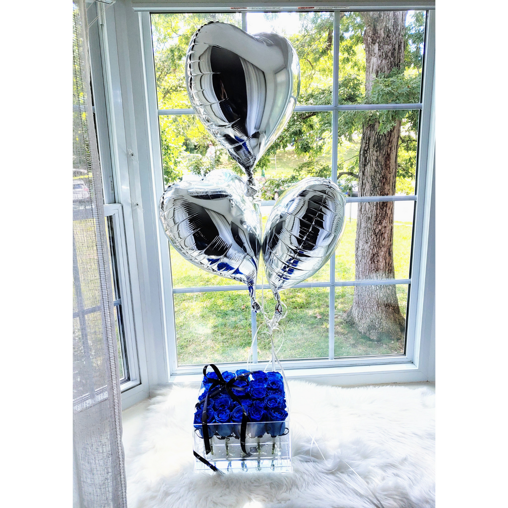 "Premium Add-On: 18"" Foil, Round or Heart-Shaped Bouquet Balloons - 🎈🎈🎈🎈"