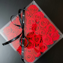 """DC Modern Preserved""- 25 Roses and Stems That Last a Year in a Square Box!"
