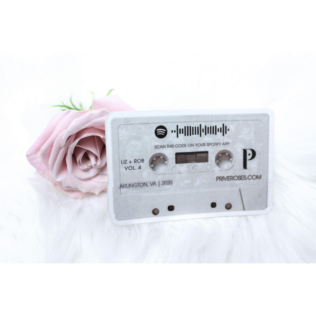 "Your FREE Add-On: Old School, Romantic ""Cassette"" Sticker - Send us your playlist!"