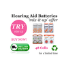 Size 13 Hearing Aid Batteries (QTY 48) PowerOne Rayovac iCellTech Zenipower 'Mix it Up' - Hear for Less