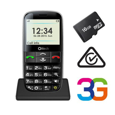 Olitech Easy Mate+ 3G Unlocked Mobile Phones Seniors 16GB MicroSD