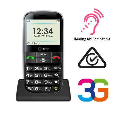 Olitech Easy Mate+ Unlocked 3G Mobile Phones Seniors Elderly Big Button
