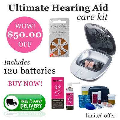 Ultimate Power One Size 312 (QTY 120) Hearing Aid Care Kit