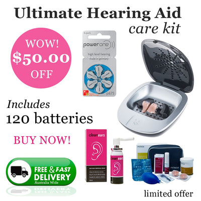 Ultimate Power One Size 675 (QTY 120) Hearing Aid Care Kit - Hear for Less