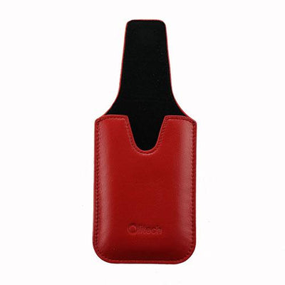 Olitech Easy Pouch Leather Flipstyle Protective Cover Red - Hear for Less