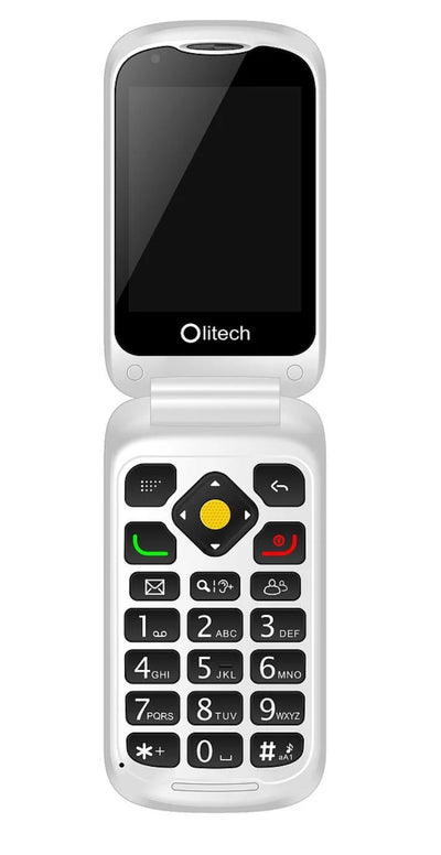 Olitech EasyFlip 4G Unlocked Mobile Phones Seniors Elderly Big Button - Hear for Less