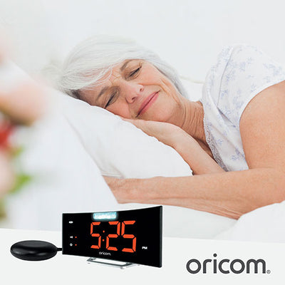 Oricom WNS100 Wake n Shake Loud Alarm With Jumbo Display - Hear for Less