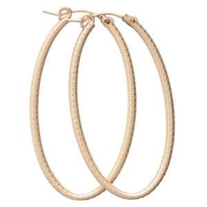 "Enewton Design Oval 2"" Textured Hoop Gold"