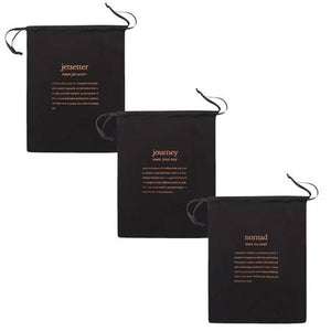 Mytagalongs Set of 3 Drawstring Bags