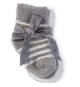 Barefoot Dreams Infant Socks Pewter/Pearl