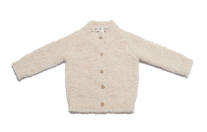 Barefoot Dreams Infant Heathered Cardi Pink/White 6-12m, Medium