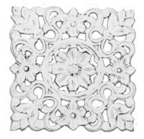 Floral Medallion Wall Plaque